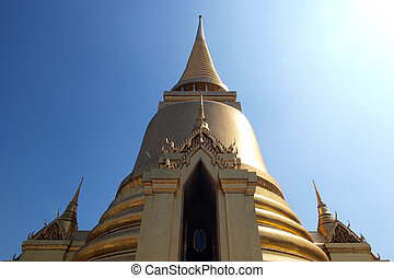 Golden pagoda in Grand Palace ,Bangkok Thailand