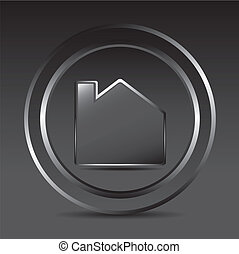 home button - black home button with frame over black...