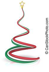 Estratto, Natale, albero