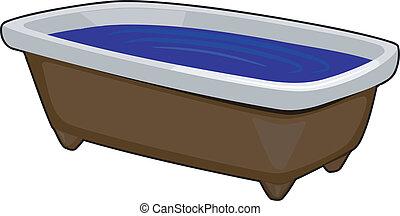 Vector Image of Bath