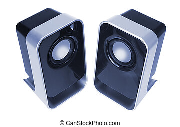 Portable Speakers on White Background