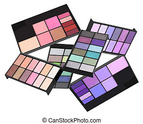 Eye Shadow Sets on White Background