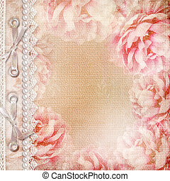 Grunge Beautiful Roses Album Cover With Lace