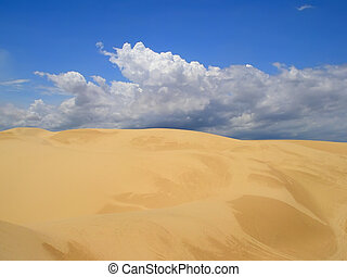 White sand dunes in Binh Thuan province, in southeastern...