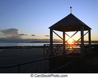 Swansea Promenade at Sunset