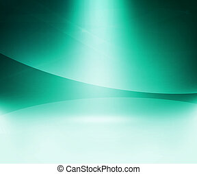 Teal Glow Abstract Background