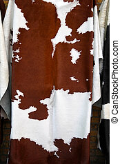 Cow hide - Unique pattern of natural cow hide leather