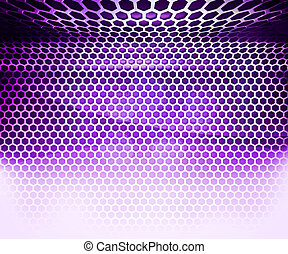 Violet Hex Grid Abstract Background