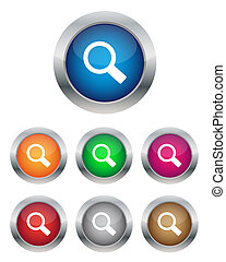 Search buttons - Collection of search buttons in various...