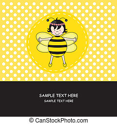Girl dressed as bee