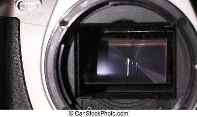 camera shutter moving