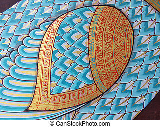 Wall art painting and texture in temple Thailand. painting...