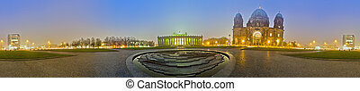 The Lustgarten in Berlins Mitte district, Germany - The...