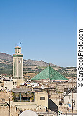 Kairaouine mosque at Fez, Morocco - Kairaouine mosque...