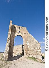 Marinid tombs at Fez, Morocco - Marinid tombs ruins at Fez,...