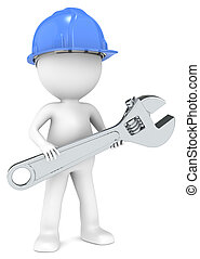 Service and Repair - 3D little human character The Builder...