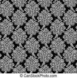 Floral seamless pattern in renaissance style