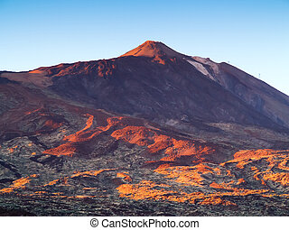 Mount Teide against blue sky