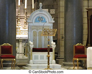 WHITE THRONE OF THE  CHURCH IN CROATIA