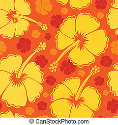 Hibiscus seamless background 2 - vector illustration.