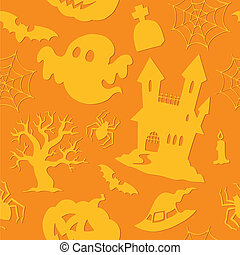 Halloween seamless background 2 - vector illustration