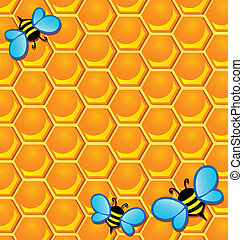 Bee theme image 2 - vector illustration.