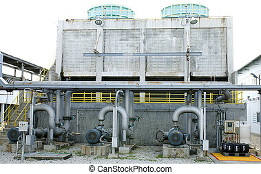 Cooling towers system - Cooling towers pipe line in...