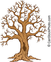 Tree theme drawing 2 - vector illustration.