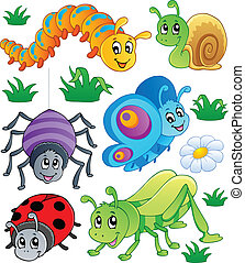Cute bugs collection 1 - vector illustration