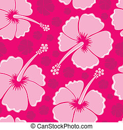 Hibiscus seamless background 3 - vector illustration.