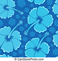 Hibiscus seamless background 1 - vector illustration.