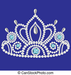 corona diadem feminine wedding we turn blue - illustration...