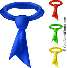 Four colorful tie.