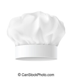 Chef hat - White Chef Hat. First variant. Illustration on...