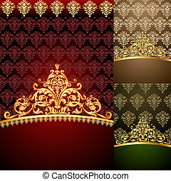 set background of the frames with gold(en) pattern