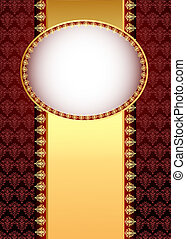 illustration seamless brown background with band and frame...