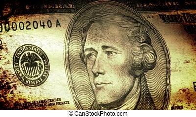 Ten Dollars Flag Waving