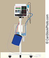 Vital Sign Monitor - A Hospital Vital Sign Monitor on...