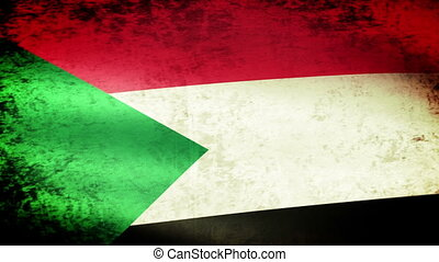 The Sudan Flag Waving, grunge look