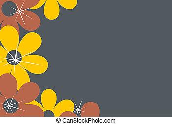 Flower border, background - A background illustration...