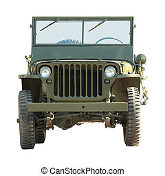 military american vehicle - front of old military american...