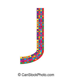 Letter J on white background