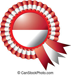 Indonesia rosette flag - Indonesia detailed silk rosette...