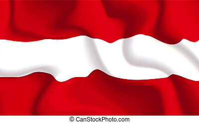 Austria waving flag