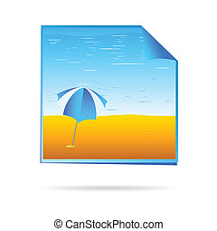 beach on reminder illustration