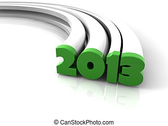 2013 - 3d glossy render of the new year