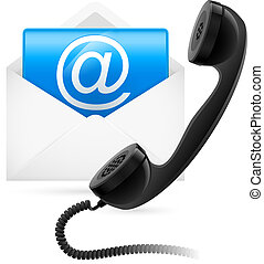 Telephone mail Illustration for design on white background