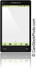 Mobile Phone - Illustration of Fictitious Mobile Phone...