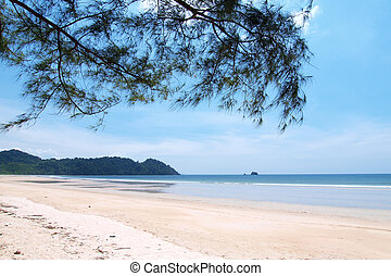 long beach in southen of Thailand
