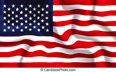 USA waving flag